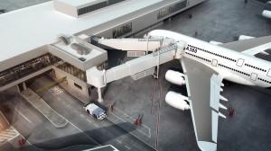 International Terminal Gate F3 A380 aircraft